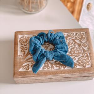 Chouchou Noeud Venise Bleu